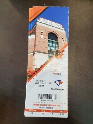 Romero MLB Debut Baltimore Orioles Blue Jays MINT Seasn Ticket 6/12/19 2019 Stub