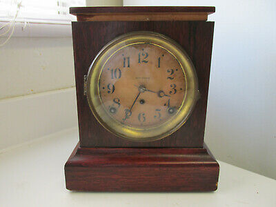 Antique Seth Thomas Adamantine Wind Up Mantle Pendulum Clock With Key Usa