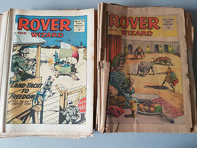 ROVER AND WIZARD COMIC - complete year of 52 issues for 1968