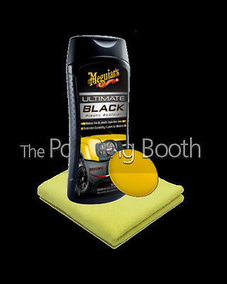 Meguiars Ultimate Black Plastic Restorer with Microfibre and Applicator 355ml
