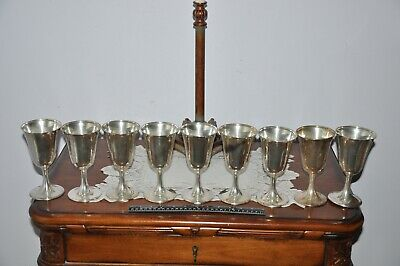 9 FINE .925 Sterling Silver Goblets / Cups , Schofield Co., Baltimore.