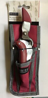 Briers Gardeners Secateur Knife & Pouch Set High Quality Tools B6312