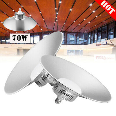 2 x 70W LED High Bay Light Cool White GYM Warehouse Factory Workshop Lamp Bright