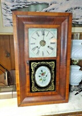 Antique 1800s CHAUNCEY JEROME OGEE 30 hour Wall Clock Exc. Running & Cosmetic