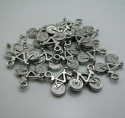 Bicycle 100pcs Free Resin 15X21mm Acrylic design Silver Bracelets beads Pendants