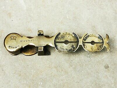 Sovereign Coin Brass Balance Scales Full & Half Sovereigns, Harrison Victorian