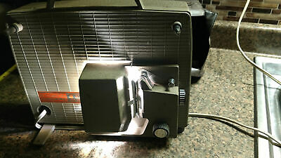 Vintage Baskon 8mm Automatic 300 Movie Projector With Cloth Case Antique