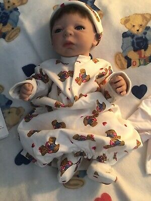 "Shiela Michael Reborn Doll ""Heaven Scent, In Teddies"" #154"