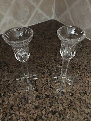 Vintage Waterford Crystal Candle Holders Pair