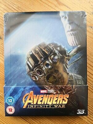 Steelbook - Avengers: Infinity War (Blu-ray + 3-D Blu-ray, Brand New & Sealed)