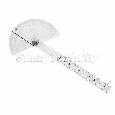 Stainless Steel Protractor 180 Degree Angle Finder Ruler Rotary Measuring Tool