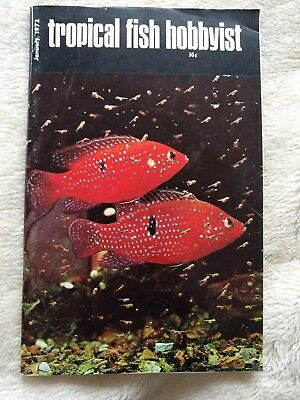 Tropical fish hobbyist January 1972 USA collectible