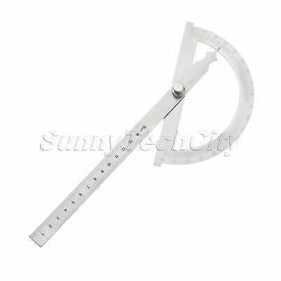 0-180 Degree Protractor Arm Measure Ruler Angle Finder Gauge Stainless Steel New
