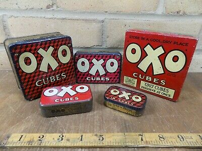 Group of Oxo Grocery advertising tins / tin c1930s- 50s
