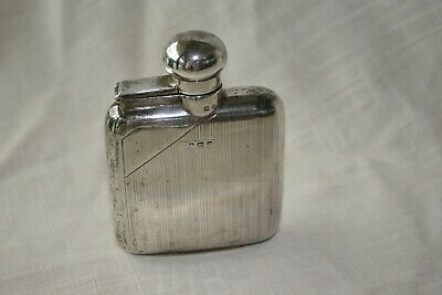 "British Sterling Antique/Vintage 4"" Hip Flask Hallmarked - Unmonogrammed"