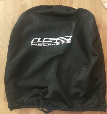 LS2 Helmets Black Drawstring Motorcycle / Scooter Helmet Bag