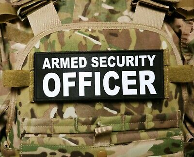 Bundle Set 2 Armed Security Officer Reflective Patches Plate Carrier Chest #X