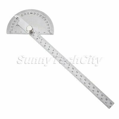 Stainless Steel Protractor 180 Degree Angle Ruler Finder Carpenter Woodworking