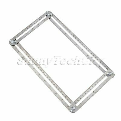 Inches Metric Multi-Angle Folding Rulers Template Tools Measuring Instruments