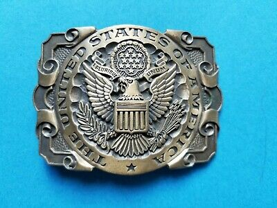 The United States of America Belt Buckle US Seal ADM Solid Brass Commemorative
