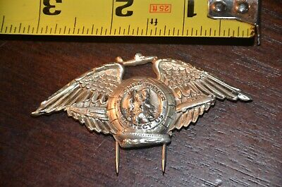 Vintage Catholic Religious Pin Medal - HAYWARD STERLING - Saint Christopher Wing