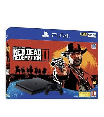 Sony PlayStation 4 500GB Black Console red redemption 2
