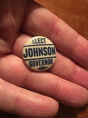 Elect Johnson Governor, Mississippi governor political pin back button