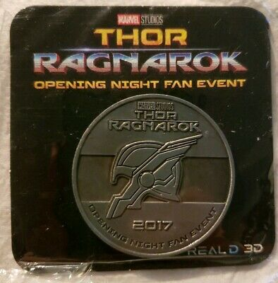 Thor Ragnarok Marvel Regal Opening Night Fan Event Collectible Coin Token Silver