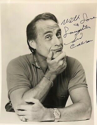 Sale! - Sid Caesar Hand-Signed 8X10 Photo / Free Shipping!
