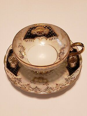 Antique Royal Sealy China Mother Of Pearl Tea Cup & Saucer Japan