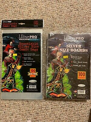 Ultra Pro Comic Series Silver Size Boards And Comic Bags 1 Pack 7x10.5 24 48pcs