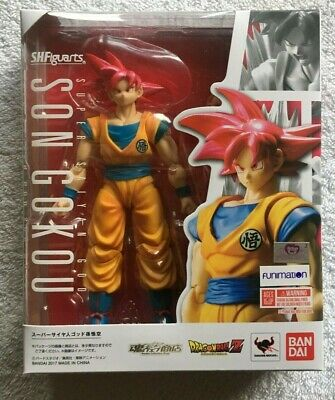 SH Figuarts Super Saiyan God Goku Dragon Ball Z Red Gokou Bandai Tamashii DBZ
