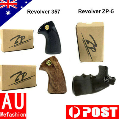 1xRevolver Handle Grip For 357 or ZP-5 Gel Ball Blaster Toy Gun Black/Wood/Green