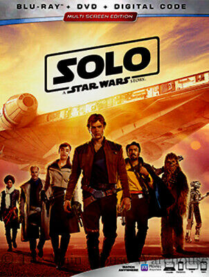 Han Solo A Star Wars Story Sci-Fi Movie on Blu-ray DVD and Digital Copy Code