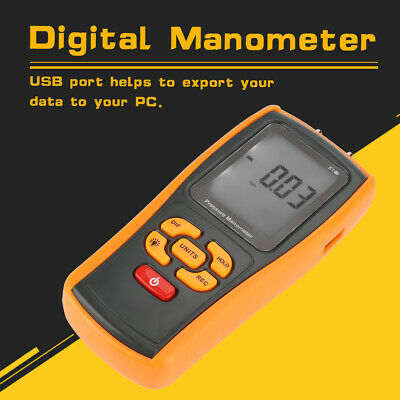GM510 Handheld Digital LCD Backlight Pressure Manometer 10kPa Pressure Gauge