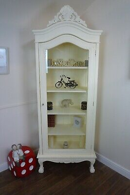French Style Shabby Chic Display Cabinet In Cream - Handmade Display Unit