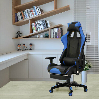 Video Gaming Chair for Home Office Computer Desk Reclining High Back w/ Support