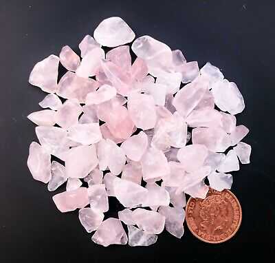 50g x Rose Quartz Crystal Tumblestone Chips
