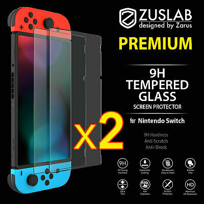 2 Pack For Nintendo Switch Console PREMIUM TEMPERED GLASS Screen Protector Cover