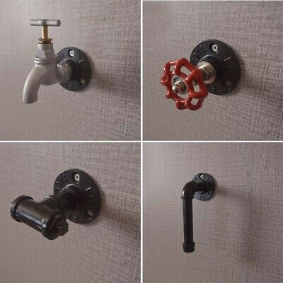 Industrial Retro Steampunk Cast Iron Faucet Knob Door Cabinet Pull Drawer Handle