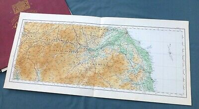 SCOTLAND, 1924 - Vintage Cloth OS map of THE SCOTTISH BORDERS .