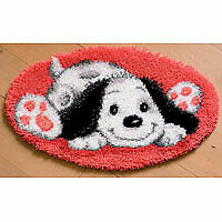 Vervaco PN-0143941 | Large Hole Canvas Puppy Rug Latch Hook Kit
