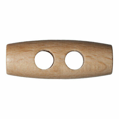 Trimits   Wooden 2-Hole Toggle   30mm   Pack of 50   FREE SHIPPING   G203630