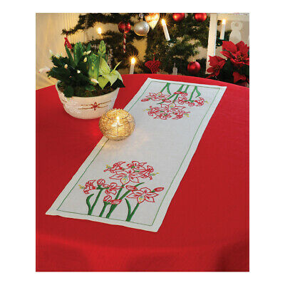 ANCHOR   Embroidery Kit: Amaryllis - Classic Runner   92400002539