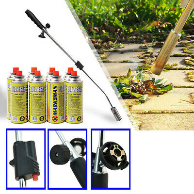 Weed Burner Killer Wand Butane Gas Blowtorch Garden Outdoor Weeds Moss Fungus Bo