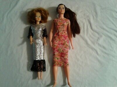 Lot of Two Vintage Dolls Remco Lisa Littlechap and American Character Tressy