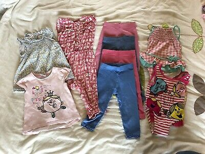 New NEXT Girls Bundle Leggings Little Miss Princess Top Swimsuit Jumpsuit 12-18