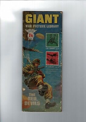 GIANT WAR PICTURE LIBRARY No. 1 from 1964 The red Devils 1'6 Fleetway Library