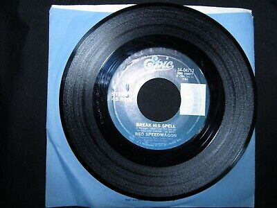 """Reo Speedwagon """"Can't Fight This Feeling / Break His Spell"""" 1984 Epic 34-04713"""