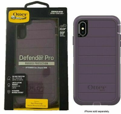 OtterBox Defender PRO Series For iPhone Xs Max Case Holster Purple Nebula Op
